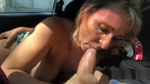 Blowjobs together with large boobs italian amateur