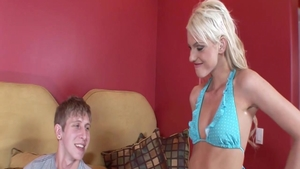 Passionate blonde babe Christine Alexis art fingering outside