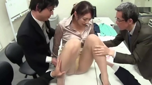 Big tits japanese slut blowjob in office