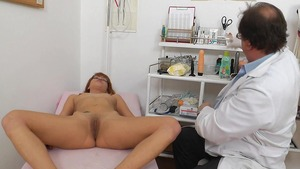 Pussy fucking in the company of doctor