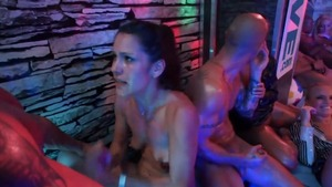 Pornstar Eliss Fire rough orgasm at the party HD
