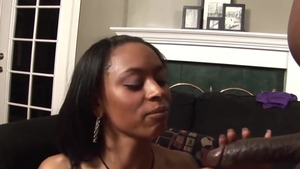 POV cumshot with ghetto ebony babe