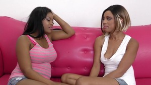 Very sexy ebony lesbian having fun
