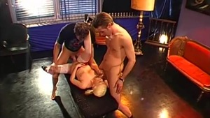 Young and super hot babe extreme gangbang