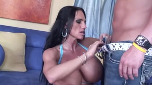 Fake tits bodybuilder Lisa Lipps receives ramming hard in HD