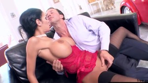 Huge tits pornstar Angelina Valentine goes in for fucking