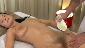 Big boobs girl romantic pumping