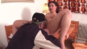 Plump deutsch MILF digs rough nailing