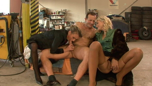 Tight Christina Lee plus George Uhl upskirt threesome