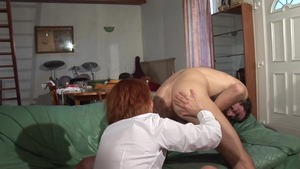 Real sex in company with hairy MILF
