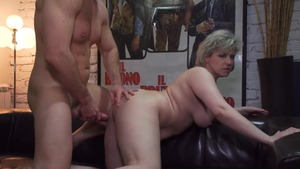 Hairy & short hair mature finds dick to fuck