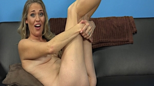 Ass fucked during interview next to skinny amateur
