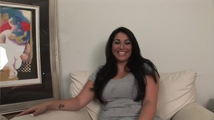 Plump coed reality gaping after interview