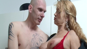 Deutsch blonde cumshot