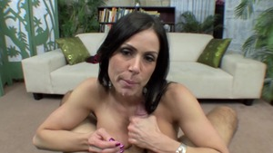 Busty and lustful stepmom Kendra Lust POV blowjob