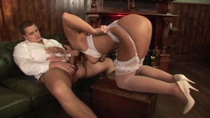 Tight housewife goes in for threesome HD