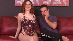 Puffy nipples Annabel Redd in sexy lingerie
