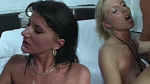 Plowing hard together with german MILF