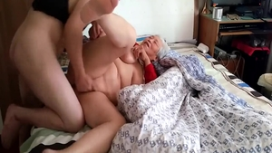 Hard slamming with large tits chinese amateur