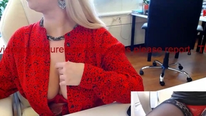Huge boobs mature in sexy stockings hidden cam in office HD