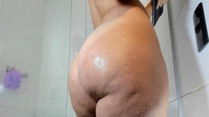 Good fucking in shower together with chubby girl