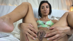 Solo young babe masturbating