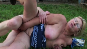 Ass pounding outdoors chubby german