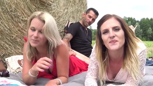 Threesome together with hottest french swinger