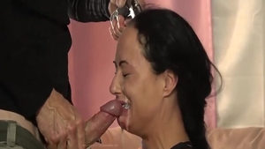 Deepthroat along with filthy officer