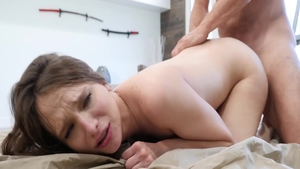 Sucking dick in company with passionate babe Izzy Lush
