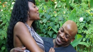 Pussy eating outdoors with super hot brunette Nyomi Banxxx
