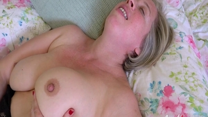 Chubby girl in stockings missionary