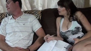 Rough nailing in the company of huge tits amateur