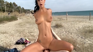 German doggy fuck at the beach