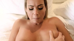 Cumshot on vacation starring busty blonde haired