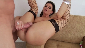 Mature need gets rough nailing in fishnet in HD