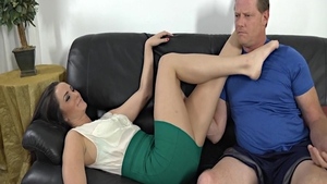Very nice Bianca Breeze banging finds dick to fuck on sofa