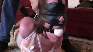Super hot chick really likes tied up