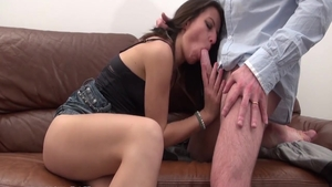 Butt fuck starring erotic skinny french babe