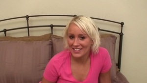 Shy thick college girl POV blowjob on the couch