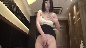 Skinny young asian babe uncensored pussy fucking