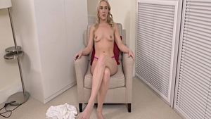 Petite blonde haired rushes sex scene in HD