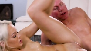 Hard ramming along with amazing blonde