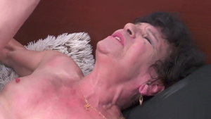 Fetish loud sex in the company of shaved granny