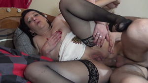 French Sandy Lou group sex
