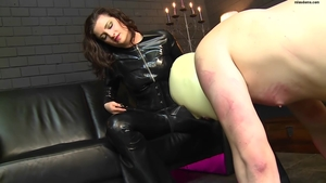 BDSM in company with brunette