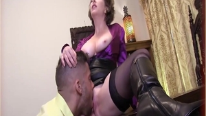 Hard ramming alongside charming slut