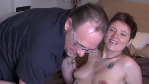 Young brunette flashing doggy fuck HD