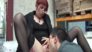 Classy passionate french redhead crazy anal fucking HD