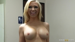 POV ramming hard in company with big tits blonde haired